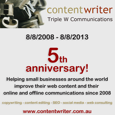 Celebrating my 5th web copywriting business anniversary