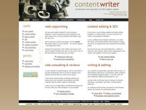 Screenshot of my old HTML website (2007-2015)