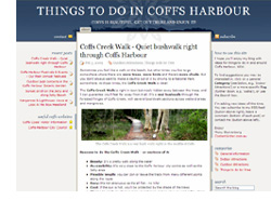 My blog describing fun things to do in & around Coffs Harbour