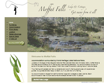 Moffat Falls Lodge and Cottages website